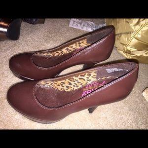 Chocolate brown UNLISTED heels